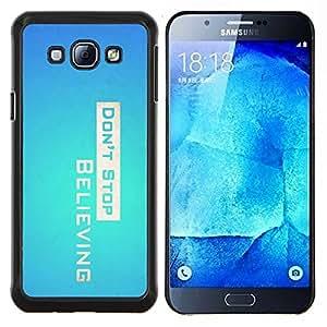 EJOOY---Cubierta de la caja de protección para la piel dura ** Samsung Galaxy A8 A8000 ** --Don 'Stop Believing