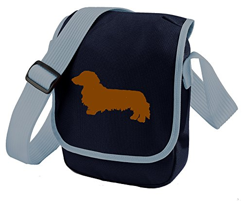 long bag brown bag haired of dog long silhouette long haired