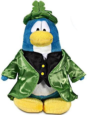 Disney Club Penguin 6.5 Inch Series 12 Plush Figure Leprechaun {Version 2} [Includes Coin with Code!] by Club Penguin
