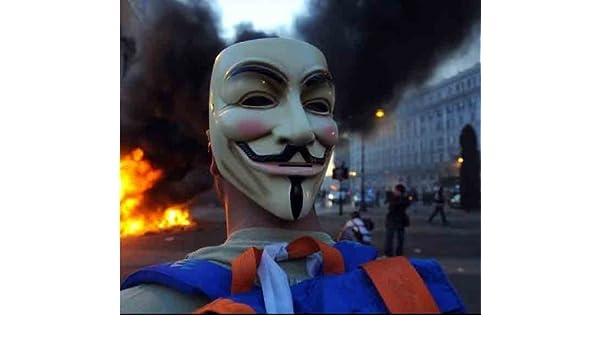Anonymous Hackers Mask (adult size) (máscara/careta): Amazon.es: Juguetes y juegos