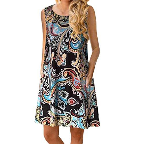 HYIRI 2019 New Special Novelty Vintage Boho Dress,Women's