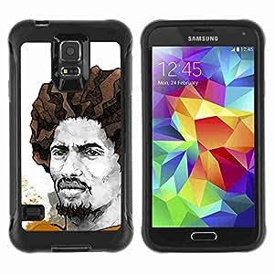 A-type Arte & diseño Anti-Slip Shockproof TPU Fundas Cover Cubre Case para Samsung Galaxy S5 V / SM-G900 ( Cool Rasta Illustration )
