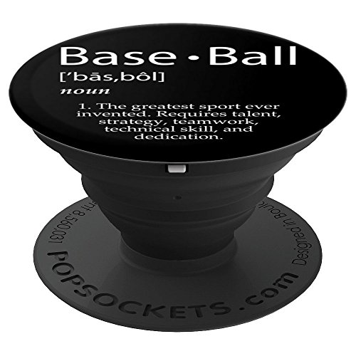 Baseball Definition Gift Idea For Baseball Team & Players - PopSockets Grip and Stand for Phones and Tablets