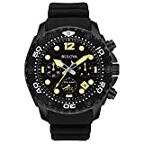 Bulova Men's 98B243 Sea King Analog Display Quartz Black Watch