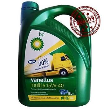 Aceite Bp Vanellus Multi A 15W40 5L: Amazon.es: Coche y moto