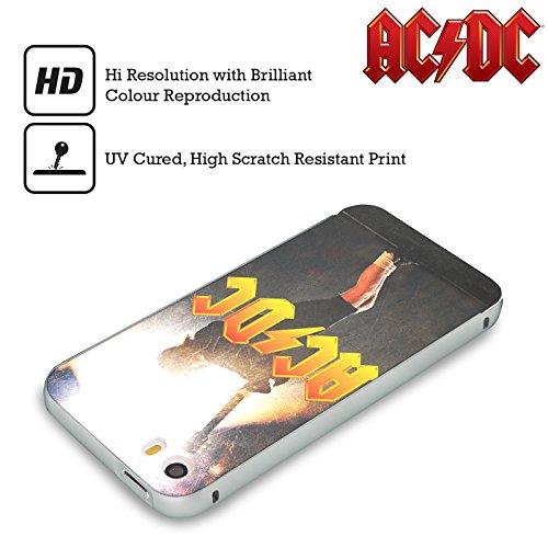 Officiel AC/DC ACDC Angus Young Concerte Solo Argent Étui Coque Aluminium Bumper Slider pour Apple iPhone 5 / 5s / SE
