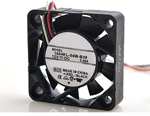 MEOLY Meglev Fan Cooling Fan 1604KL-04W-B39 DC Brushless Fan 12V 0.39A 3 Wire Connector Graphics Card Fan 404010mm