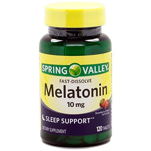 Fast Spring - Spring Valley Fast-Dissolve Melatonin, 10 Mg, 120 Tablets