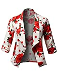 Product review for Plus4u Women's Plus Size Floral Printed 3/4 Shirring Sleeve Blazer Made In USA