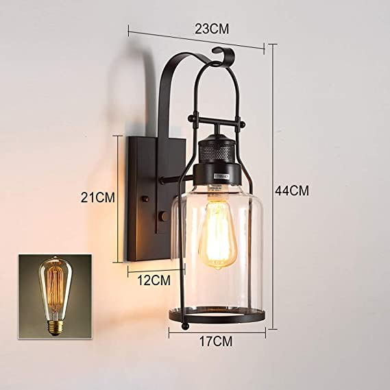 Amazon.com: DEPAOSHJ Retro Industrial Style Study Wall Lamp ...