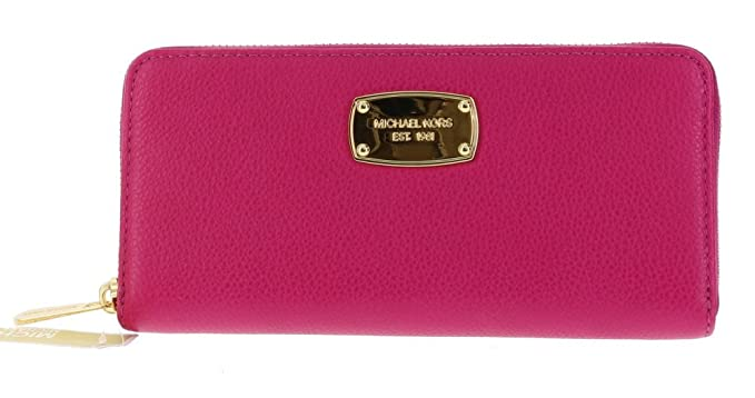 879dac08b107 Image Unavailable. Image not available for. Color: Michael Kors Jet Set Zip  Around Continental Pebbled Leather Clutch Wallet ...