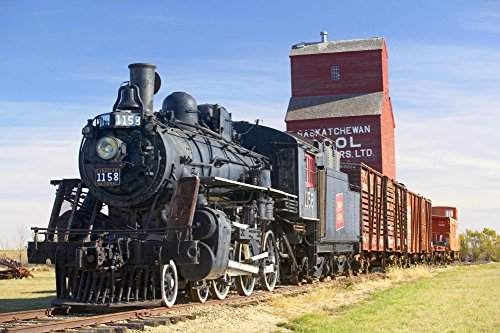 Real Photo Railroad Train (Railroad Old Carrier Steam Engine Train Picture on Mouse Pads mousepads Computer Desktop Supplies)