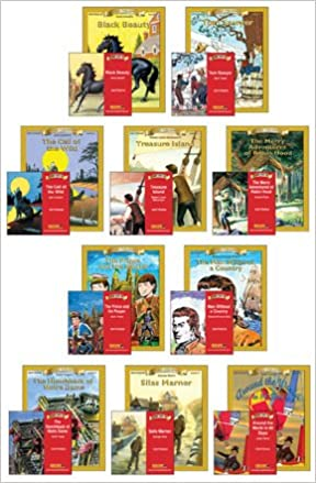 Set Of 10 Classic Books Workbooks With 10 Read Along Audio Book