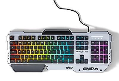 ONEXELOT USB wired RGB backlit Revolutionary semi mechanical keyboard, gaming keyboard