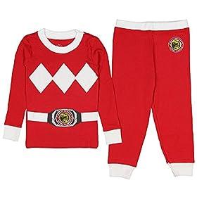 - 51K6bnM5inL - Kids Mighty Morphin Power Rangers Costume Pajama Set