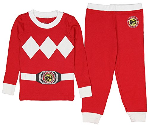 Intimo Toddler Mighty Morphin Power Rangers Costume Pajama Set (Red, 4T)