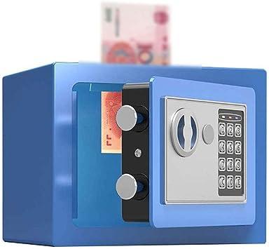 Oficina y papelería La seguridad, la llave de la caja pequeña oficina en casa - azul - 22X17X17cm - Efectivo Caja fuerte con el estilo que funciona con -Moneda 10-23: Amazon.es: Bricolaje y herramientas