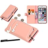 Urvoix iPhone 6 Plus / iPhone 6S Plus Case, Organizer PU Leather Clutch Purse with Detachable Case, Card Slots and ZIP Pouch Cover for iPhone6 Plus/6S Plus(5.5