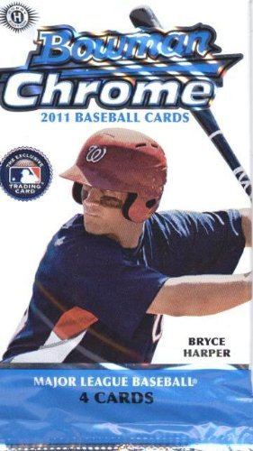2011 Bowman Baseball Rookie Card - 2011 Bowman Chrome Baseball Cards: Hobby Pack (4 Cards/Pack) (1 Random Pack) (Mike Trout Rookies?)