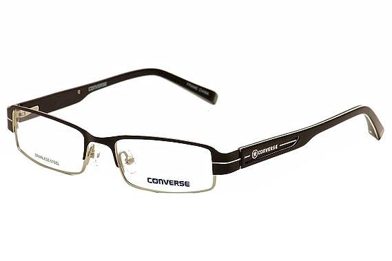 20d1fcd057c Amazon.com  Converse Eyeglasses DJ Black Fashion Full Rim Optical ...