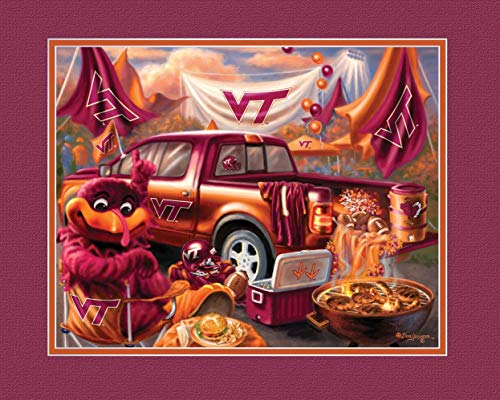 (Prints Charming College Tailgate Virginia Tech Hokies Unframed Poster 12x16 Inches)