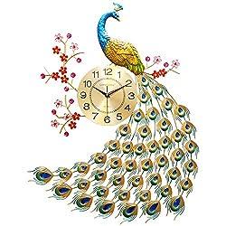 SMC wall clock Creative Peacock Watch European Style Home Living Room Mute Modern Atmosphere Wall Clock Quartz Clock