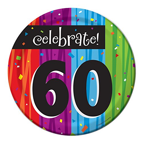 (Milestone Celebrations 60th Birthday Dessert Plates, 24 ct)