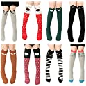 VWU 6/8 Pack Girls Animal Tube Socks