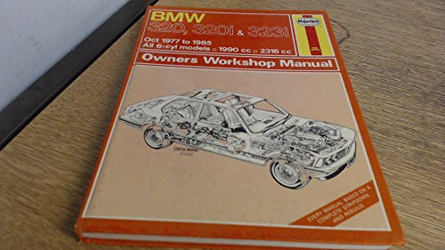 BMW 320, 320i & 323i owners workshop manual Oct 1977 to 1985