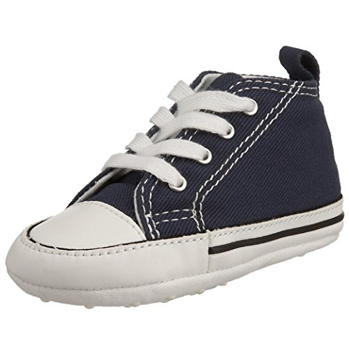 Converse Baby First Star High Top Sneaker, Navy, 1 M US Infant ()