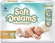 Soft Dreams Pañales Para Bebé Etapa 1 Talla Rn 20 Piezas