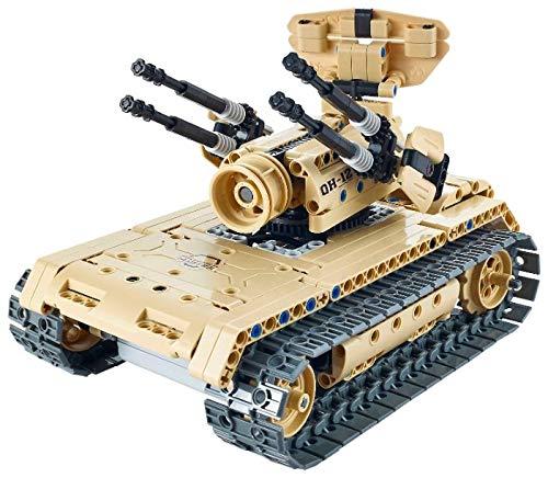 s-idee/® 8012 RC Milit/är Bausteinpanzer mit Fernsteuerung