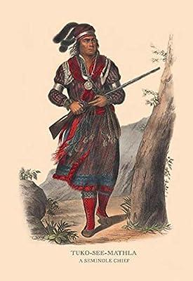 "Tuko-See-Mathla (A Seminole Chief)Fine art canvas print (20"""" x 30"""")"