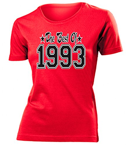 THE BEST OF 1993 - DELUXE - Birthday mujer camiseta Tamaño S to XXL varios colores Rojo