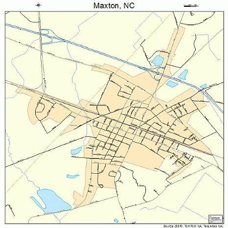 Maxton Nc Map.Amazon Com Large Street Road Map Of Maxton North Carolina Nc