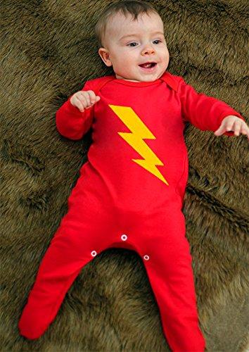Disfraz de superhéroe para niño bebé, Baby para niño/Flash Superhéroe bebé ropa para niños o niñas por bebé Moo rojo rosso Talla:3-6 meses: Amazon.es: ...