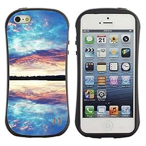 Pulsar iFace Series Tpu silicona Carcasa Funda Case para Apple iPhone 5 / iPhone 5S , Nature Beautiful Forrest Green 81