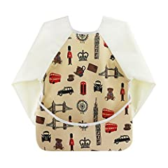 Product description  Functional Design.  Features an adjustable velcro closure and catch-all pocket, which keeps things off the floor. It can be the full clothing Feeding coverage and can double as an art smock. And design has long sleeves, P...