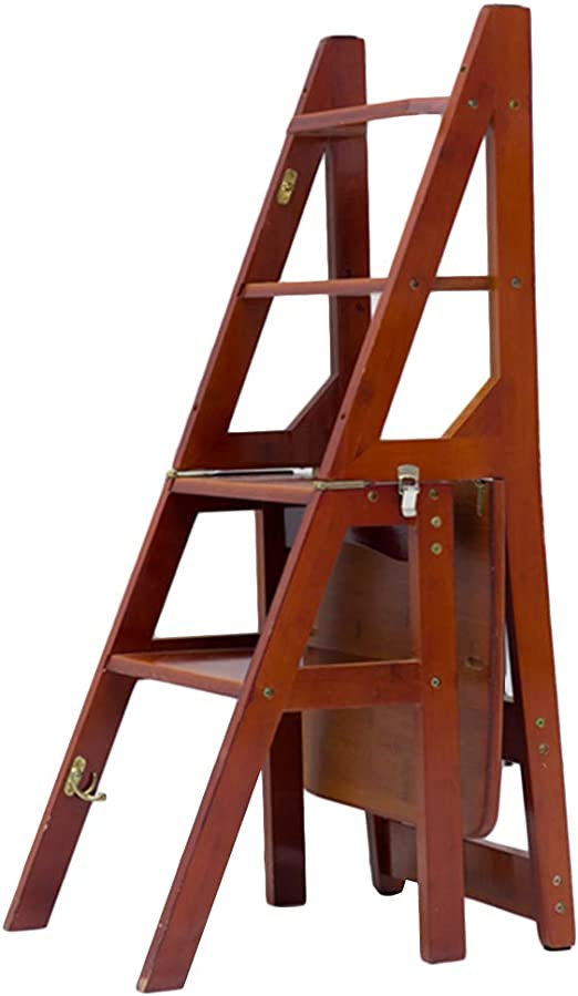 CAIJUN Escalera Plegable Multifuncional Bambú Carbonización Uso Dual Suave Antideslizante Alpinismo Montaje, 3 Colores Doble Uso (Color : B, Tamaño : 36x47x89cm): Amazon.es: Hogar