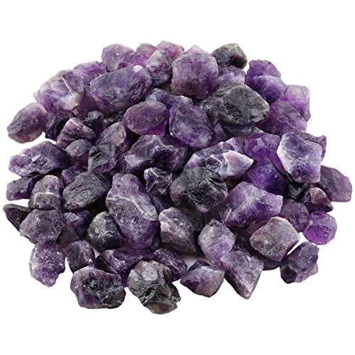 Purple Stone Amethyst (rockcloud 1 lb Natural Crystals Raw Rough Stones for Cabbing,Tumbling,Cutting,Lapidary,Polishing,Reiki Crytsal Healing,Amethyst)