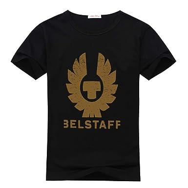 5977b2583d1 BELSTAFF Logo Mens Fashion Short Sleeve T-Shirt  Amazon.fr  Vêtements et  accessoires