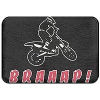 Braap Biker Motocross Skid Resistance Outdoor Rug Standing Mat
