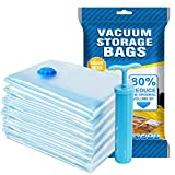 Agedate Vacuum Storage Bags, 6 Pack (3xLarge, 3xJumbo) Space Saver Storage Bags for Travel, Durable and Reusable, Save 80% More Storage Space, Free Hand Pump Included