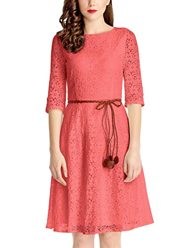 brown and coral dresses - 1