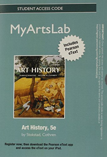 NEW MyLab Arts with Pearson eText -- Standalone Acess Card -- for Art History (5th Edition) (Check Credit Card Balance)