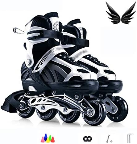 4IN1インラインスケート|スケート靴|調整可能なサイズ|子供子供大人男性女性