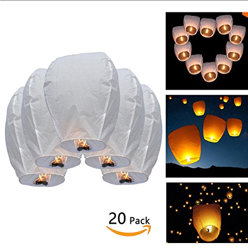 Chinese-Sky-Lanterns-White-Paper-ECO-Wire-free-Eclipse-Flying-Sky-Floating-Candle-for-Wedding-Birthday-Chinese-Flying-Wish-Lights-100-BIODEGRADABLE-Environmentally-Friendly-30