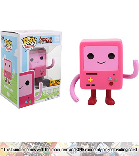 Blushing Bmo  Hot Topic Exclusive   Funko Pop  Tv X Adventure Times Vinyl Figure   1 American Cartoon Themed Trading Card Bundle   321   08710