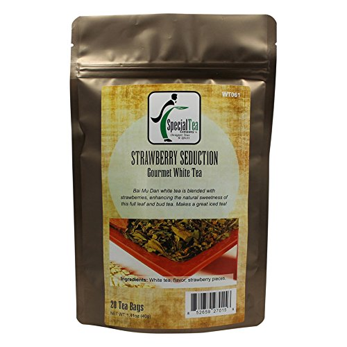 Special Tea Strawberry Seduction White Tea, 20 Count by Special Tea