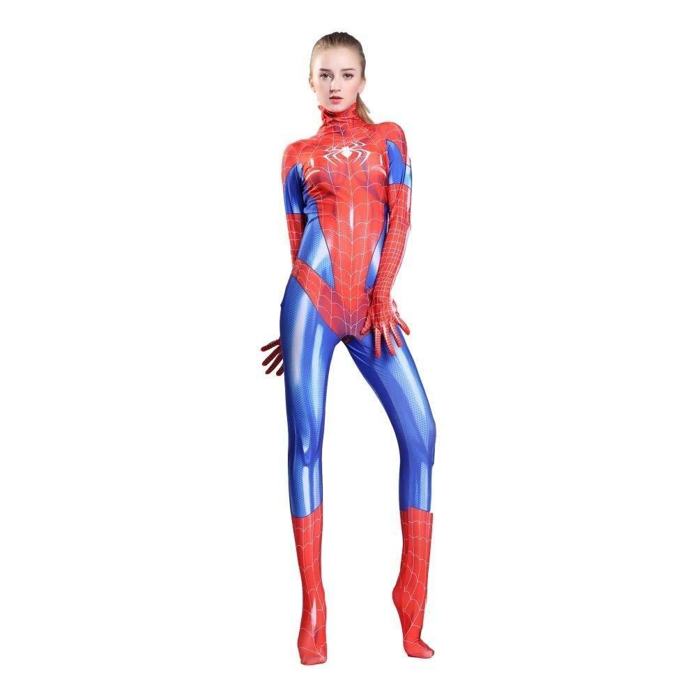 WEGCJU Traje De Spiderman De Mujer Cosplay Medias Siamesas Disfraz ...
